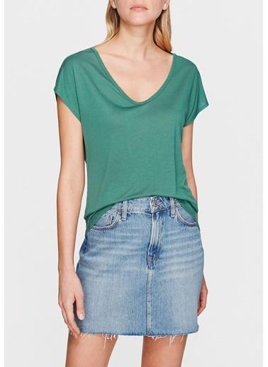 Mavi Yeşil Basic Tişört Yeşil